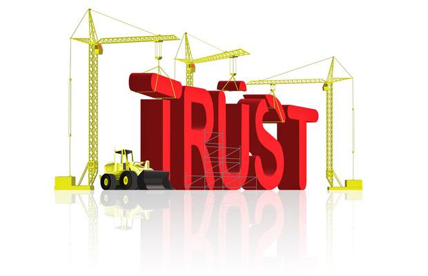 text 'trust' being built.