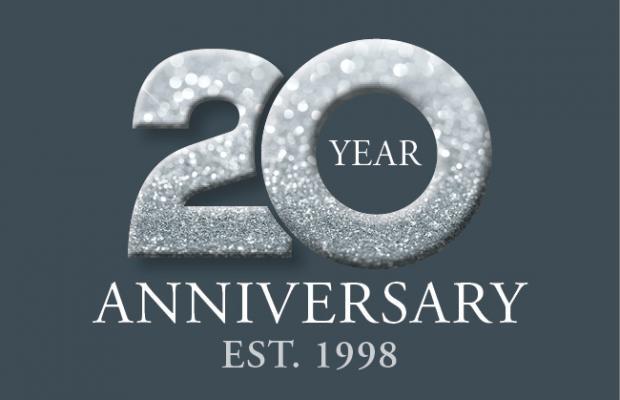 Calverton Finance's 20 Year Anniversary logo.