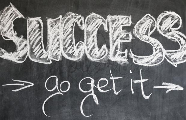 success go get it in chalk on a blackboard.