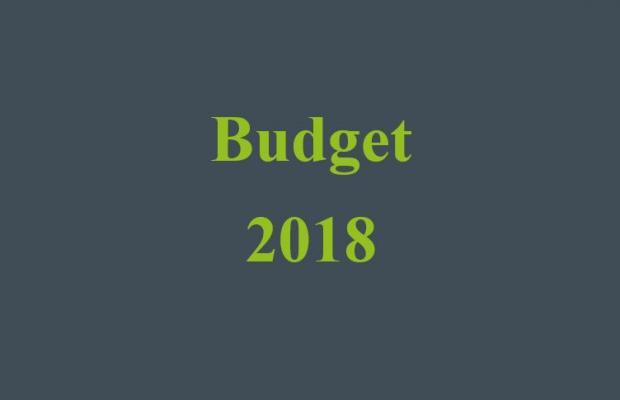 text 'Budget 2018'.